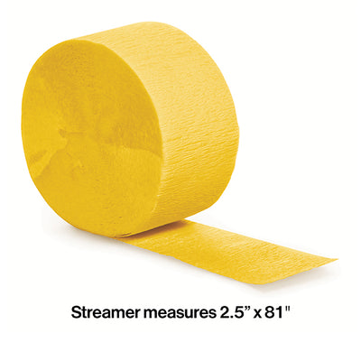 School Bus Yellow Crepe Streamers 81' Party Decoration