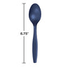 Navy Blue Plastic Spoons, 50 ct Party Decoration