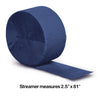 Navy Crepe Streamers 81' Party Decoration