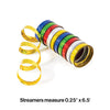 Multicolor Holographic Serpentine Streamer Party Decoration