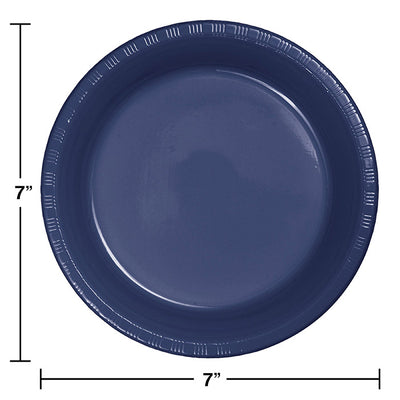 Navy Blue Plastic Dessert Plates, 20 ct Party Decoration