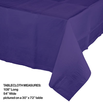 "Purple Tablecover 54""X 108"" Polylined Tissue Party Decoration"