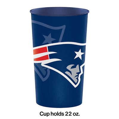 New England Patriots Plastic Cup, 22 Oz Party Decoration