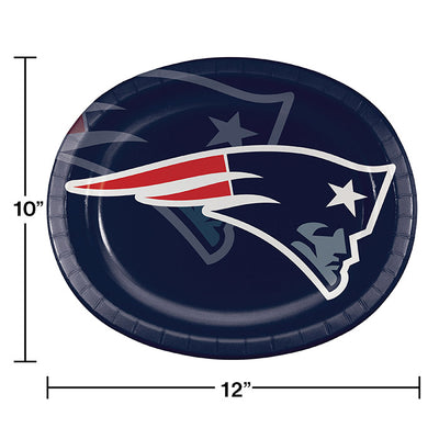 "New England Patriots Oval Platter 10"" X 12"", 8 ct Party Decoration"