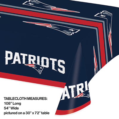 "New England Patriots Plastic Tablecloth, 54"" X 108"" Party Decoration"
