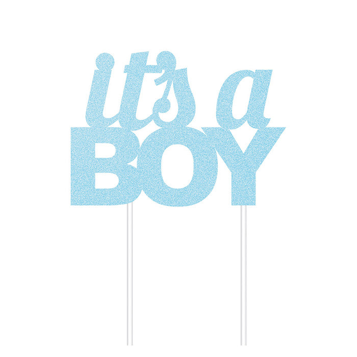 Blue Glitter It'S A Boy Cake Topper by Creative Converting