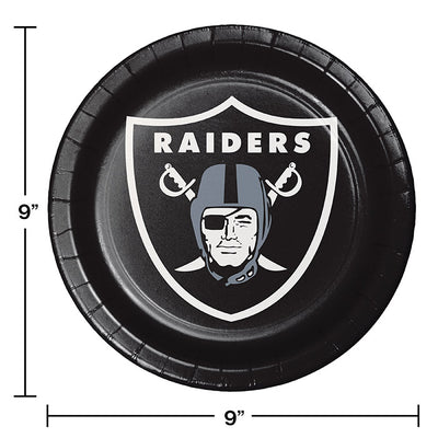 Oakland Raiders Paper Plates, 8 ct Party Decoration