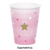 One Little Star - Girl Hot/Cold Paper Paper Cups 9 Oz., 8 ct Party Decoration