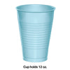Pastel Blue 12 Oz Plastic Cups, 20 ct Party Decoration