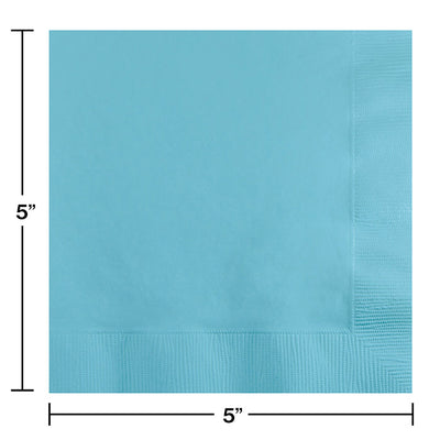 Pastel Blue Beverage Napkin 2Ply, 50 ct Party Decoration