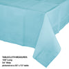 "Pastel Blue Tablecover 54""X 108"" Polylined Tissue Party Decoration"