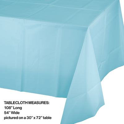 "Pastel Blue Tablecover Plastic 54"" X 108"" Party Decoration"