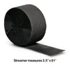Black Velvet Crepe Streamers 81' Party Decoration
