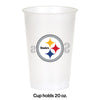 Pittsburgh Steelers Plastic Cup, 20Oz, 8 ct Party Decoration