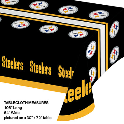 "Pittsburgh Steelers Plastic Tablecloth, 54"" X 108"" Party Decoration"