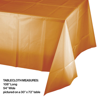 "Pumpkin Spice Tablecover Plastic 54"" X 108"" Party Decoration"