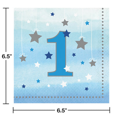 One Little Star Boy 1st Birthday Napkins, 16 ct Party Decoration