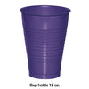 Purple 12 Oz Plastic Cups, 20 ct Party Decoration