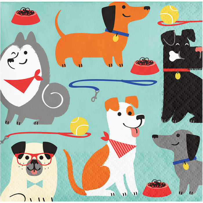 Dog Party Beverage Napkins, 16 ct by Creative Converting
