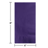 Purple Dinner Napkins 2Ply 1/8Fld, 50 ct Party Decoration