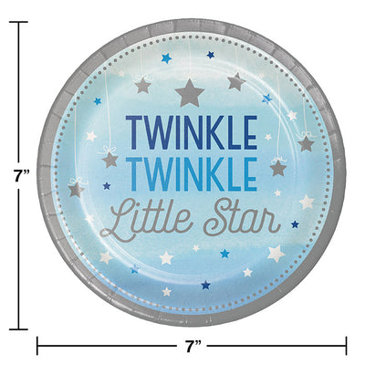 One Little Star Boy Dessert Plates, 8 ct Party Decoration