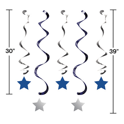 One Little Star Boy Dizzy Danglers, 5 ct Party Decoration