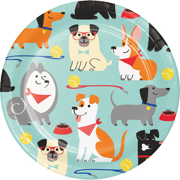 Dog Party Dessert Plates, 8 ct by Creative Converting