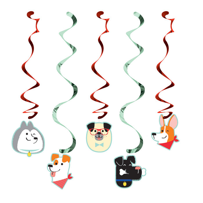 Dog Party Dizzy Danglers, 5 ct by Creative Converting