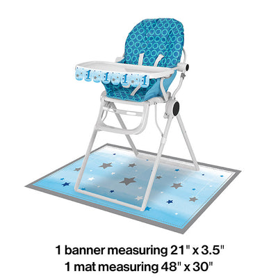 One Little Star Boy High Chair Kit Party Decoration