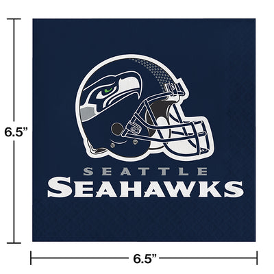 Seattle Seahawks Napkins, 16 ct Party Decoration