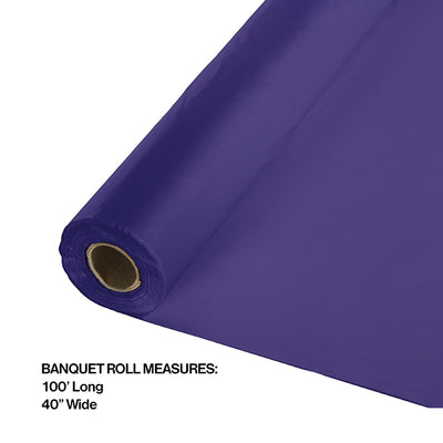 "Purple Banquet Roll 40"" X 100' Party Decoration"