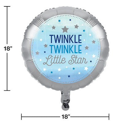 "One Little Star - Boy Metallic Balloon 18"" Party Decoration"