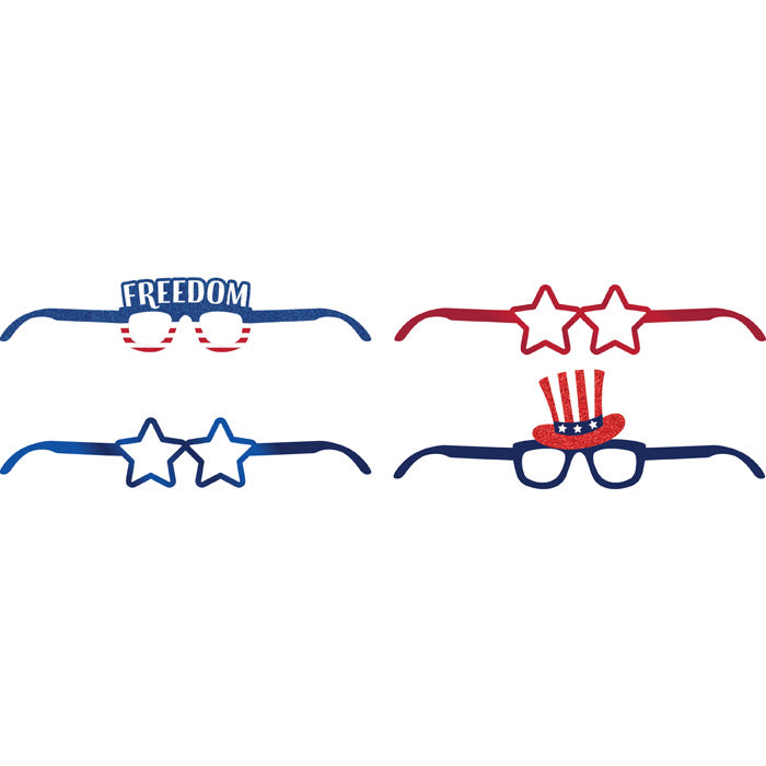 Patriotic Paper Glasses 4ct by Creative Converting