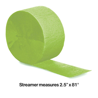 Fresh Lime Crepe Streamers 81' Party Decoration