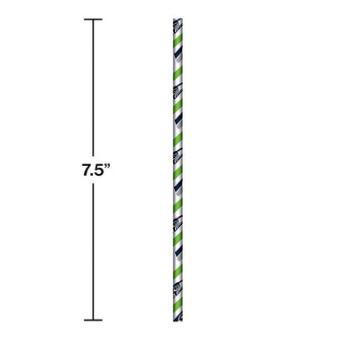 Seattle Seahawks Paper Straws, 24 ct Party Decoration