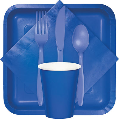 Cobalt Blue Plastic Spoons, 24 ct Party Supplies