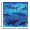 Shark Splash Beverage Napkin, 3 Ply, 16 ct Party Decoration