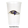 Baltimore Ravens Plastic Cup, 20Oz, 8 ct Party Decoration
