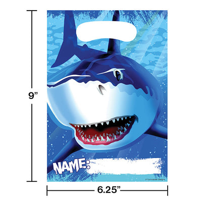 Shark Splash Favor Bags, 8 ct Party Decoration