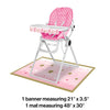 One Little Star Girl High Chair Kit Party Decoration