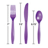 Amethyst Purple Assorted Plastic Cutlery, 24 ct Party Decoration