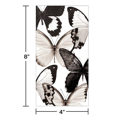 Entomount Butterfly Guest Towel, 3 Ply, 16 ct Party Decoration