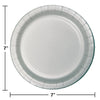 Shimmering Silver Dessert Plates, 24 ct Party Decoration