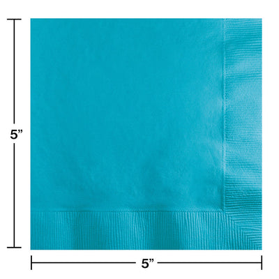Bermuda Blue Beverage Napkin 2Ply, 50 ct Party Decoration