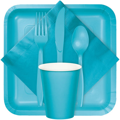 Bermuda Blue Beverage Napkin 2Ply, 50 ct Party Supplies