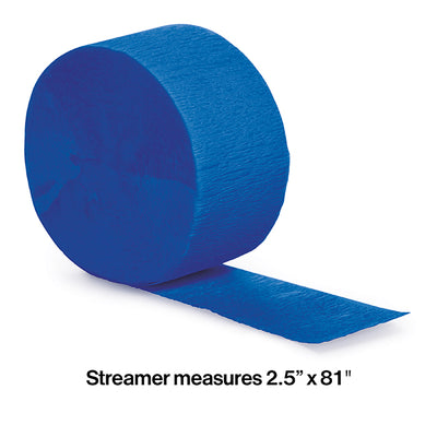 Cobalt Crepe Streamers 81' Party Decoration