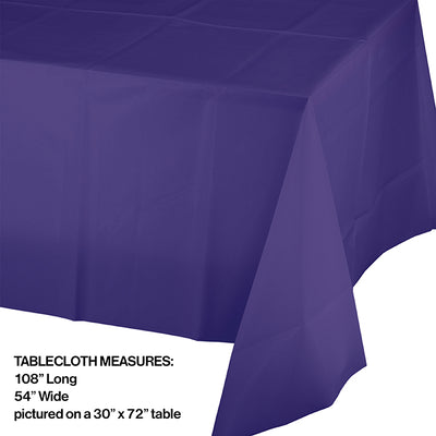 "Purple Tablecover Plastic 54"" X 108"" Party Decoration"