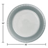 Shimmering Silver Plastic Banquet Plates, 20 ct Party Decoration