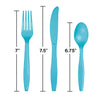 Bermuda Blue Assorted Plastic Cutlery, 24 ct Party Decoration