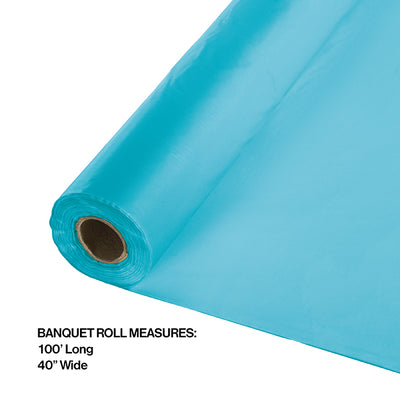 "Bermuda Blue Banquet Roll 40"" X 100' Party Decoration"